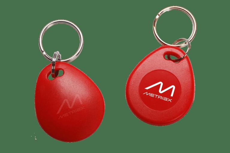 Metriax-RFID-NFC-Keyfob-Schlüsselanhänger-rot